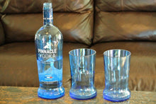 2 Blue Pinnacle Vodka Glasses By Looking Sharp Cactus