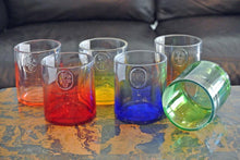 Green Apple Ciroc  Bottle Drinking Glasses - Tumblers - Vodka Glasses - Set of Liquor Bottle Glasses