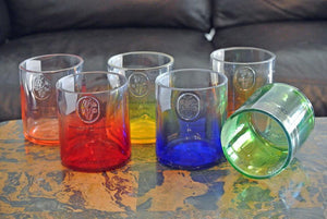 Peach Ciroc Drinking Glasses - Tumblers - Vodka Glasses- Vodka Gifts