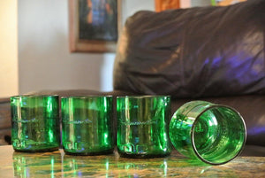 Set Of Liquor Bottle Glasses - 4 Jameson Whiskey Rocks Glasses- Whiskey Gift for Boyfriend