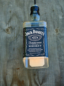 HUGE Jack Daniels Bottle Light - Pendant Light Shade - Jack Daniels Decor - Whiskey Gifts