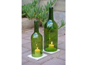 Wine Bottle Candle Holder