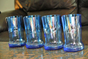 Blue Pinnacle Vodka Glasses