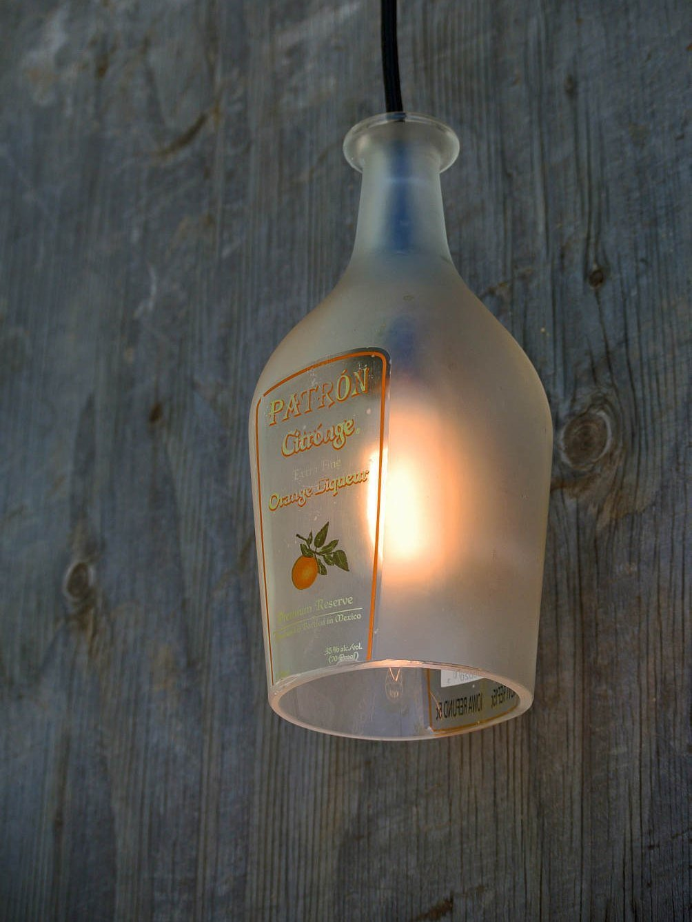 Patron Frosted Tequila Pendant Light Shade - Bottle Light