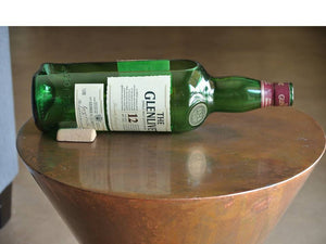 Glenlivet Whiskey Bottle- order as a  Succulent Planter - Cut Glass Candy Dish - Flower Vase