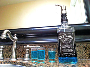 Mouthwash Dispenser - Jack Daniels Whiskey Bottle - fs
