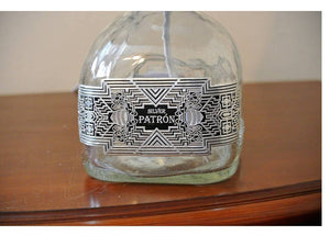 Patron Silver Glass Bottle Lamp - Man Cave Light