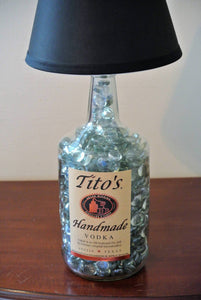 Tito's Glass Bottle Lamp - Alcohol Bottle Lamp