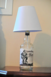 Upcycled bottle lamp