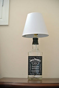 Jack Daniels Glass Bottle Lamp -  Jack Daniels Decor