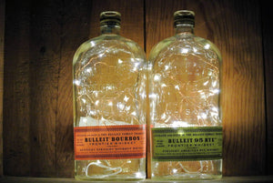 Bulleit Lighted Bottle - Fairy Lights in Bottle
