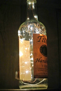 Titos Vodka Lighted Bottle - Fairy Lights in Bottle
