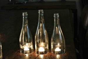 Wine Bottle Candle Cover And Holder