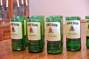 10 Jameson Flower Vases - Whiskey Bottle Decor - Irish