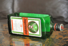 Jagermeister Bottle Snack Dish - Green Glass Serving Dish Or Planter