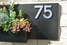 Black Metal Address Plaque Gives Curb Appeal - House Number Planter