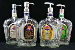 Crown Royal Soap Dispenser - Liquor Bottle Soap Dispenser - fs