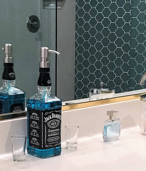 Jack Daniels Whiskey Soap Dispenser - Kitchen Bathroom Soap Pump
