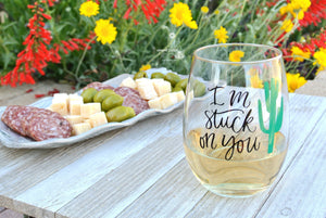 """I'm"" Stuck On You"" - Funny Wine Gift for Mom Wife Girlfriend..."