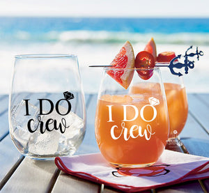 1 Custom Stemless Wine Glass for your Bridal Party or for Bridesmaid Gifts