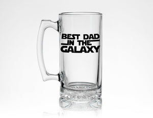 Best Dad in the Galaxy Beer Mug - Dad Gift from Daughter or Son