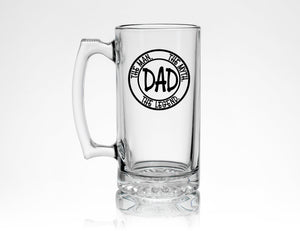 Dad Pint Glass * The Man The Myth The Legend * New Dad Gift