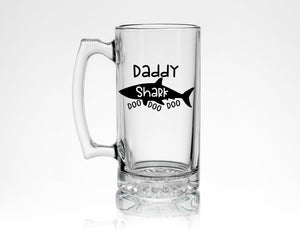 Daddy Shark Beer Mug * Perfect Dad Gift from Son or Daughter * Beer Lover Gift