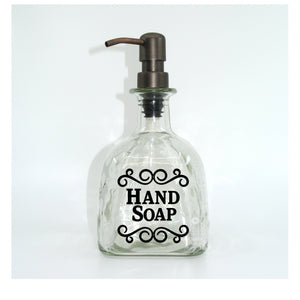 DIY Vinyl Decal - Use to Make a Patron Hand Soap Dispenser