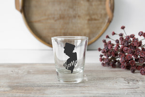 1 New Jersey Shot Glass - Custom State Shot Glass Gift