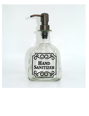 DIY Vinyl Decal - Use to Make a Patron Soap Dispenser for Bathroom or Kitchen