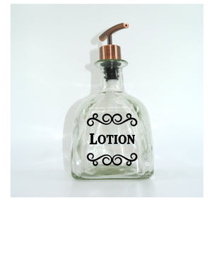 DIY Vinyl Decal - Use to Make a Patron Lotion Dispenser