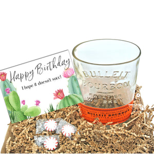 Bulleit Whiskey Drinking Glass - Happy Birthday Gift Box