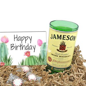 Jameson Happy Birthday Gift Box with Whiskey Glass - Vase - Kitchen Utensil Holder