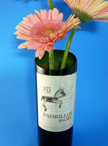 Wine Bottle Flower Vase - Upcycled Wine Bottle makes a Great Wine Gifts for a Wine Lover Gift