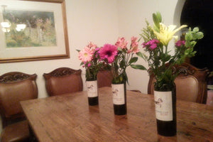 Wine Bottle Vase - Wine Lover Gift