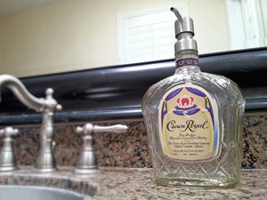 Crown Royal Soap Dispenser - Liquor Bottle Soap Dispenser for Bathroom Kitchen or Home Bar