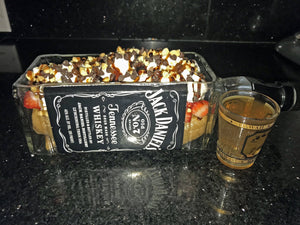 Jackdaniels Whiskey Gifts & Decor - Succulent Bottle Planter, Bowl or Serving Dish