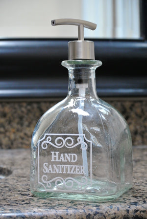 Patron Glass Hand Sanitizer Dispenser