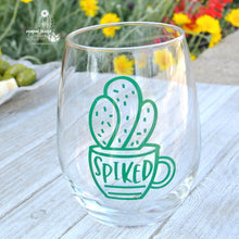 """Spiked"" Wine Glass for Cactus Lover or Wine Lover - Funny Cactus Gift"