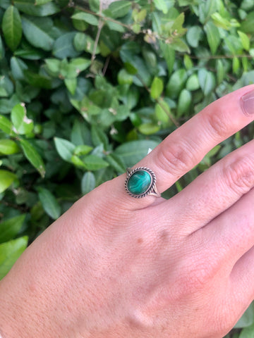 Tiny Malachite Ring