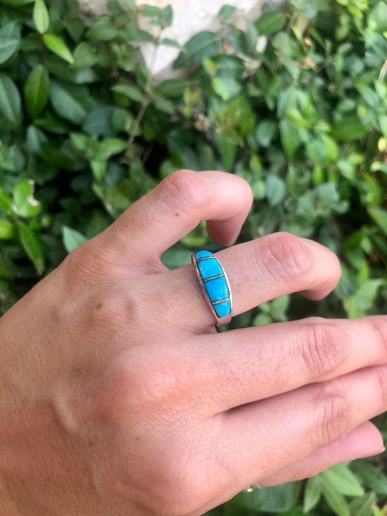 Turquoise & Opal Inlay Ring