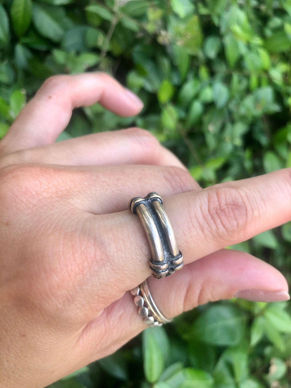 Two Bar Sterling Silver Ring
