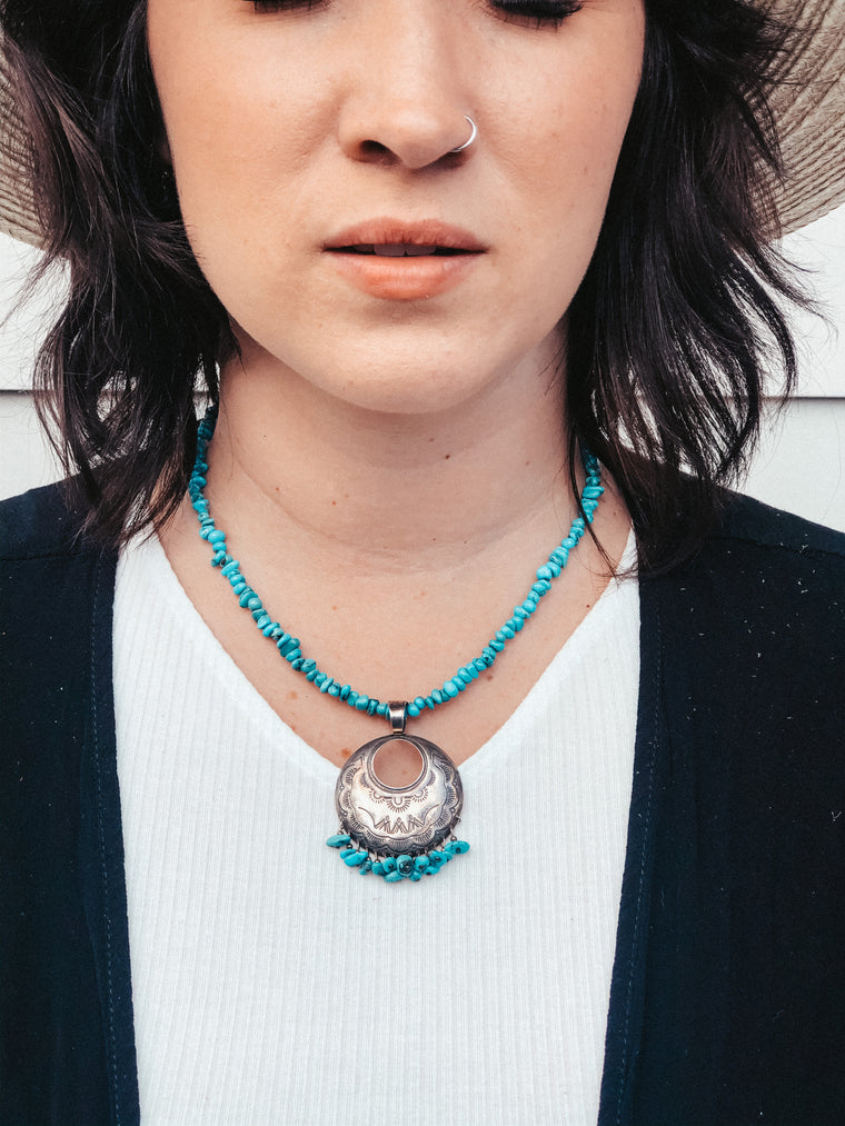 70's Turquoise Necklace