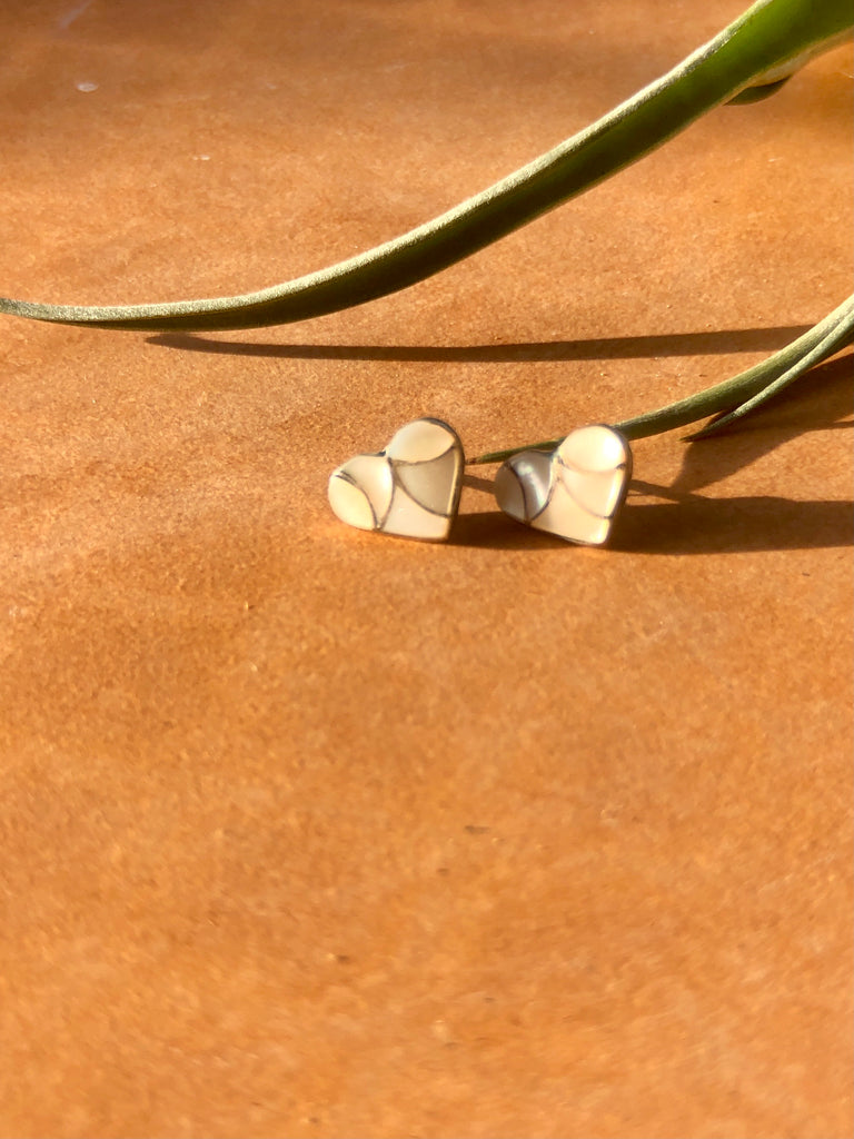 Inlay Heart Studs