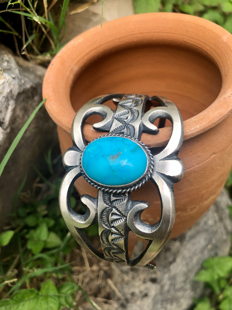 Oversized Turquoise Cuff