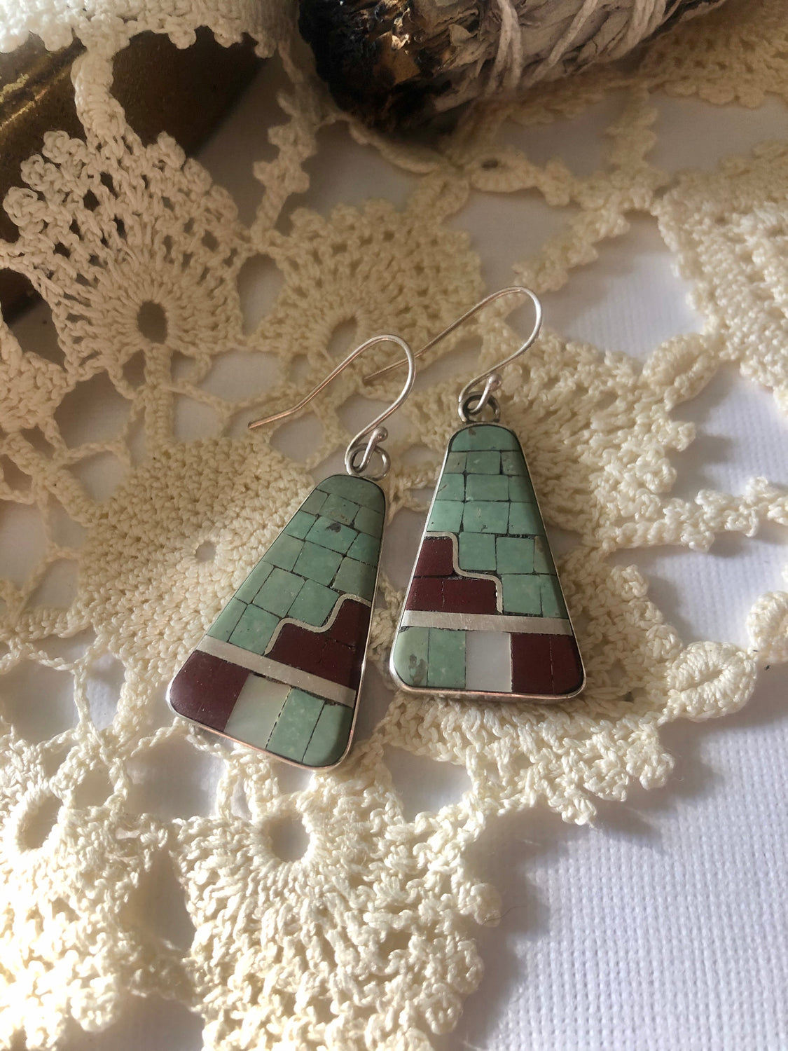 Modern Inlay Earrings 4