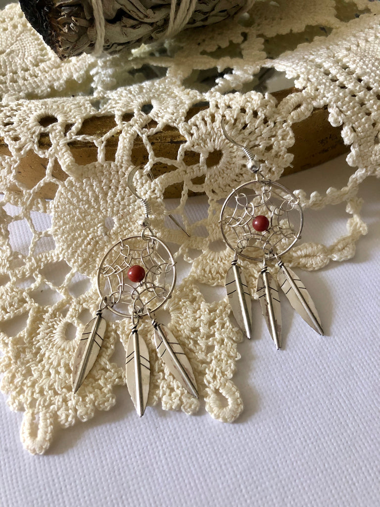 Coral Dream Catchers
