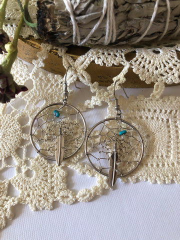 Large Turquoise Dream Catchers