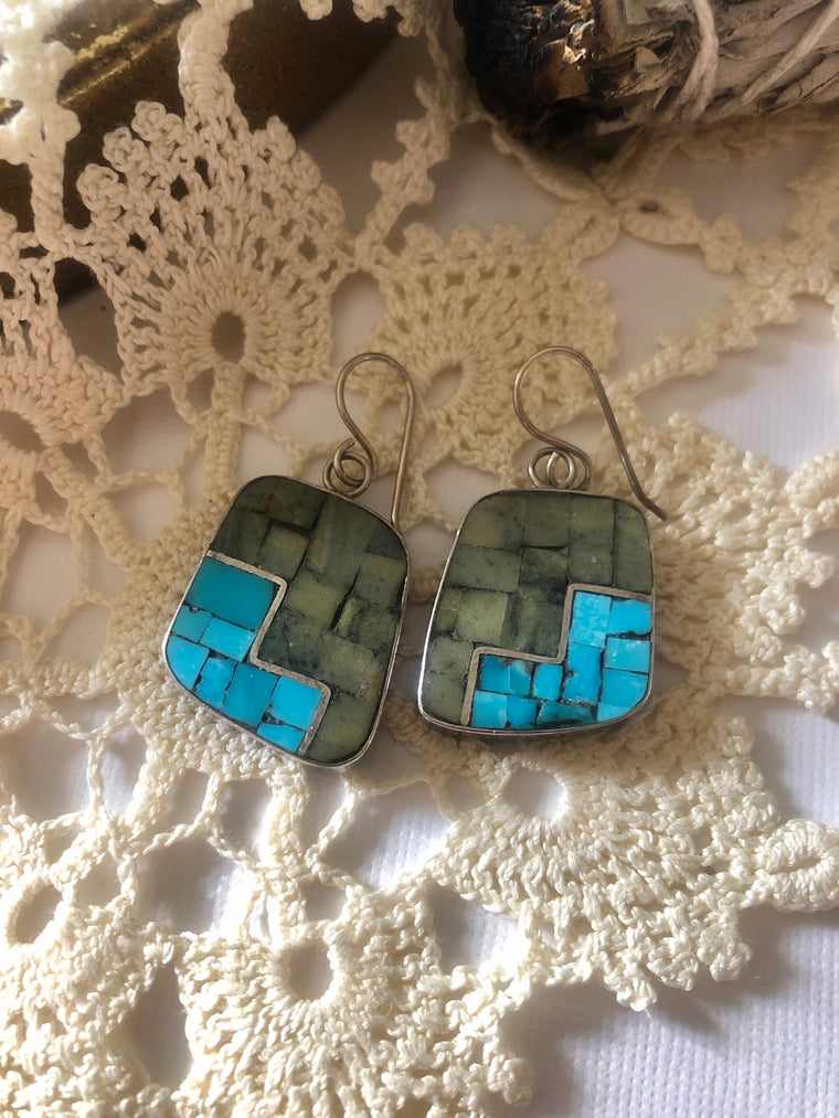Modern Inlay Earrings