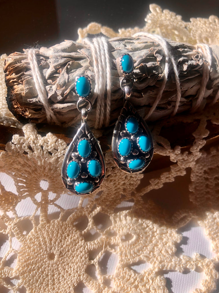 Turquoise Tear Drop Earrings